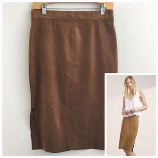 Aritzia Wilfred Free 8 Suede Lis Skirt