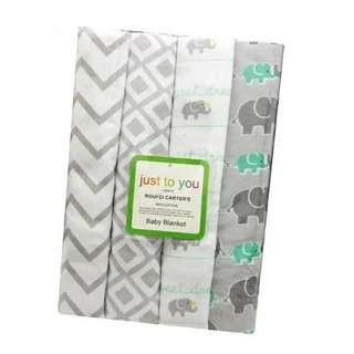 4 in 1 Cotton Baby Blanket (BIG) (Set 27)