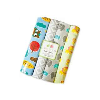 4 in 1 Cotton Baby Blanket (BIG) (Set 29)