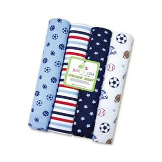 4 in 1 Cotton Baby Blanket (BIG) (Set 4)