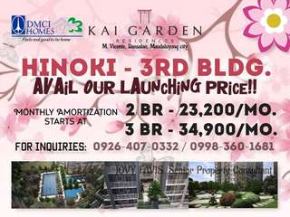 Kai Garden Residences 3rd Bldg. HINOKI Launching