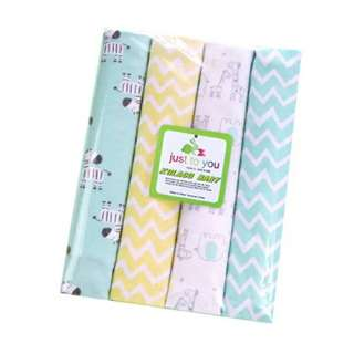 4 in 1 Cotton Baby Blanket (BIG) (Set 5)