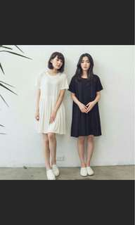 🚚 Queen shop棉質百褶連衣裙