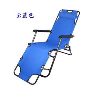 Portable 2 in 1 Chair Sling Recliner Sleeping Lounge Chair Blue Folding Bed/ Chair
