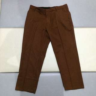 Celana Panjang Pria High Water Pants Big Size Coklat