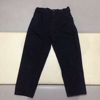 Celana Jeans Pria High Water Pants Big Size Navy