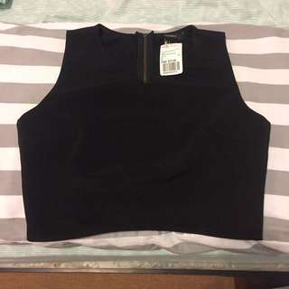 Forever 21 Black Crop Top