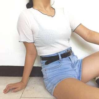 White lettuce shirt