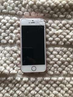 Cracked iPhone SE