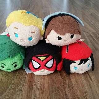 Disney Store Tsum Tsum (Marvel 'Women of Power' set)