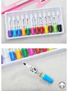 🚚 12色濕擦魔幻塗鴉筆水彩筆