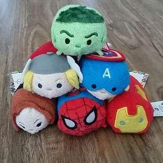 Disney Store Tsum Tsum (Marvel Avengers set)