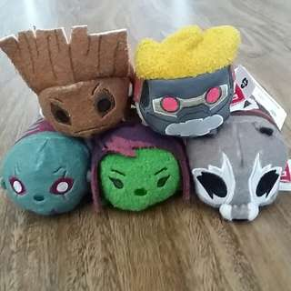 Disney Store Tsum Tsums Guardians of the Galaxy set