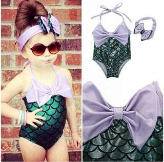 Mermaid Swimwear Bow Bikini Set