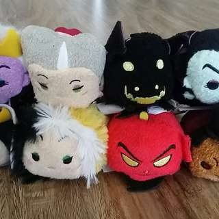 Disney Store Tsum Tsum Villains Set