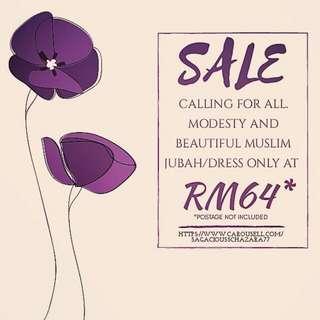 SALE! RM64 JUBAH/DRESS
