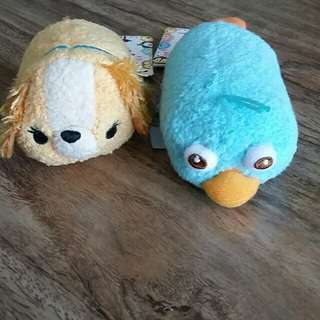Disney Store Tsum Tsum ( Perry, Lady)