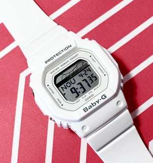 NEW 🌟ARRIVAL BABYG DIVER CASIO SPORTS WATCH : 1-YEAR OFFICIAL WARRANTY: 100% ORIGINALLY AUTHENTIC BABY-G SHOCK-RESISTANT in PURE WHITE BEST FOR MOST SPORTS ROUGH USERS & UNISEX: BLX-560-7DR / BLX560 / DW5600 / BA-110 / DW-5600 / G-LIDE