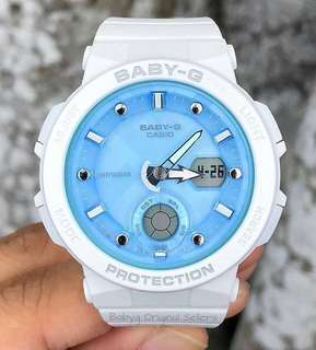 NEW 🌟ARRIVAL BABYG DIVER CASIO SPORTS WATCH : 1-YEAR OFFICIAL WARRANTY: 100% ORIGINALLY AUTHENTIC BABY-G SHOCK-RESISTANT in WHITE OCEAN BLUE  BEST FOR MOST SPORTS ROUGH USERS: BGA-250-7A1DR / BGA-150CP / BA-110CP / BA-110 / BA110