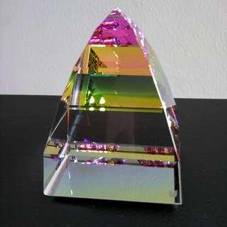 Swarovski Crystal Paperweight - Pyramid