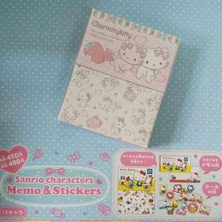 日本版 Sanrio Charmmy Kitty memo紙及貼紙