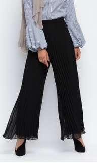High waist pleated pants culottes
