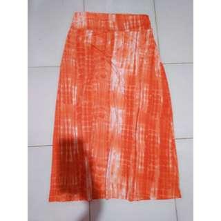 Tie die orange skirt