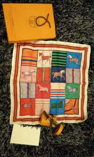 Hermes Scarf with Original receipt (100% Authentic)