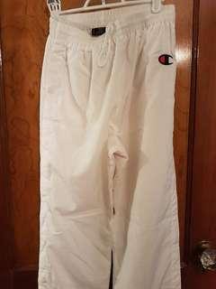 Vintage Champion white tear away pants