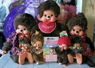 All Original Sekiguchi Monchhichi Dolls