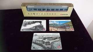 港鐵 鐵路百周年紀念列車模型 連車票