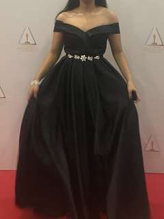 Black Formal Evening Long Gown