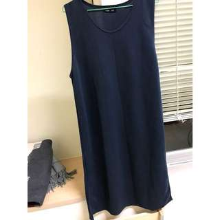 🚚 正韓 深藍色 背心洋裝