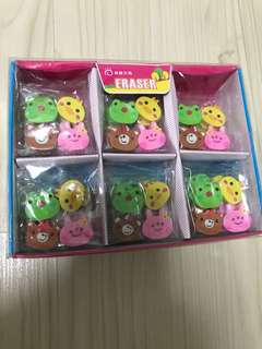 Cute animal erasers