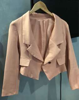 Short Blush Pink Blazer