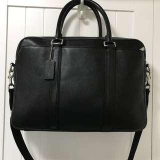 Coach leather brief