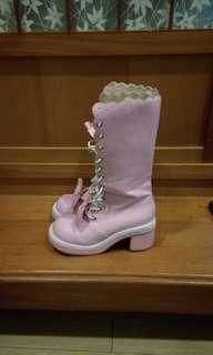 🚚 可愛粉紅靴子 近新 #一百元好物