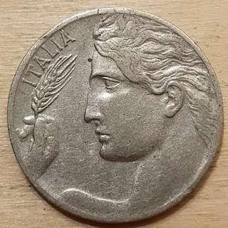 1908 Italy 20 Centesimi Coin