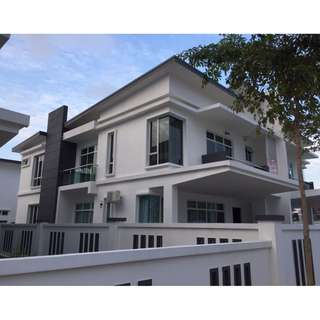 Double Storey Semi-Detached for Rent in Senibong Villas ( Type A ) Johor Malaysia 🇲🇾