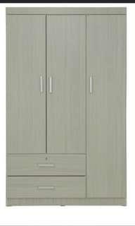 Offer!3 doors whitewash wardrobe
