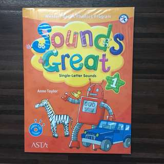 Sounds Great level 1 (buku les Inggris Mentari Books Phonics Program)