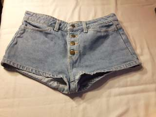 Size 26 American apparel high waisted shorts