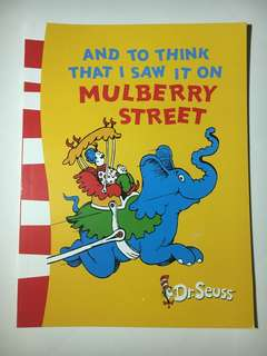 Dr Seuss - And to think that I saw it on a Mulberry Street