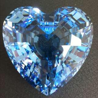 117 Swarovski Crystal - Heart (Blue)