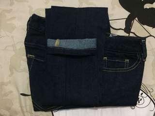 Dark blue jeans import