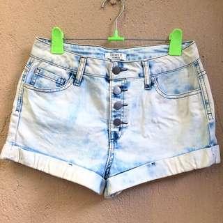 Forever 21 Buttondown Denim Shorts