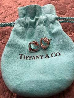Tiffany Open Heart Earrings