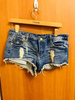 🚚 牛仔短褲(深色)