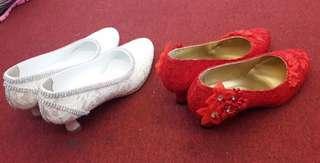 襯婚紗及晚裝高跟鞋
