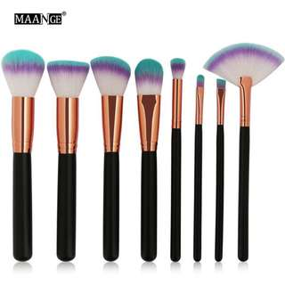 🦋MAANGE 8pcs/set Makeup Brushes Set Power Cosmetics Make Up Beauty Tool Kits🦋